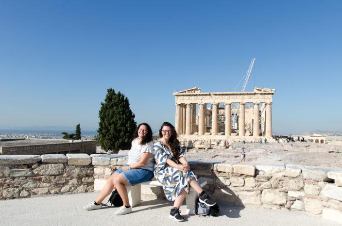 Akropolis Athen mit Pantheon Tempel
