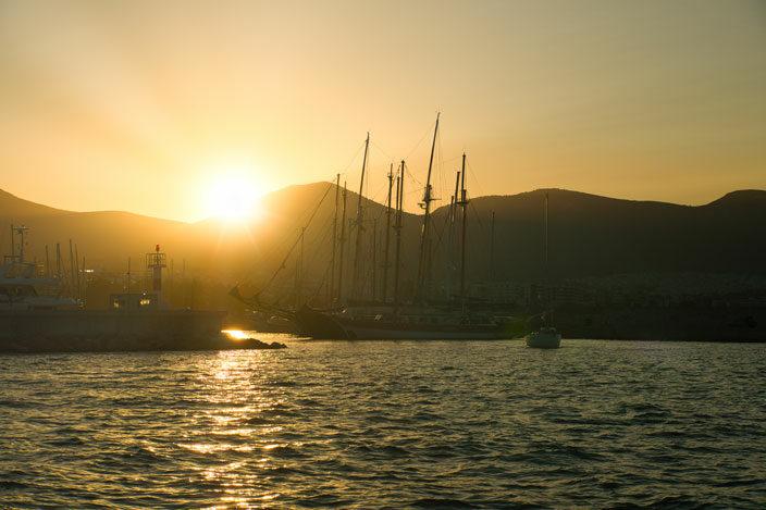 Sonnenaufgang Marina Alimos