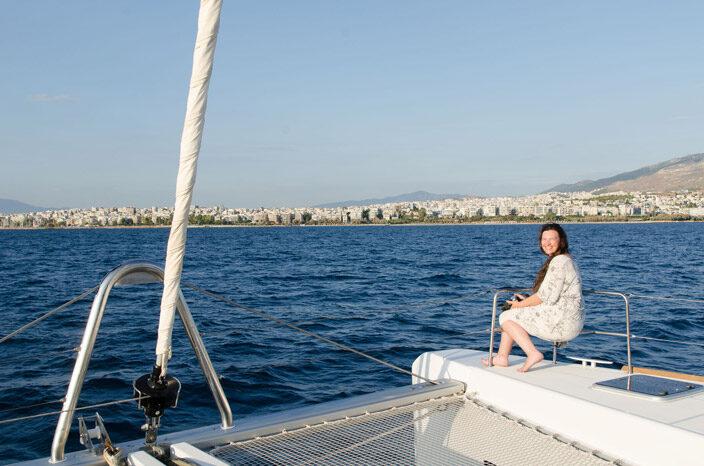 Unterwegs zurück in die Marina von Alimos