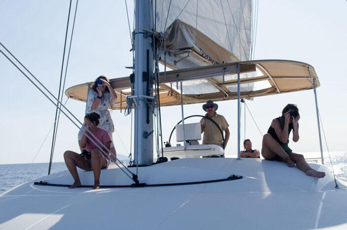 Skipper Petros und die Segelgruppe